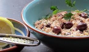 Tapa tonijnsalade met citroen en olijven